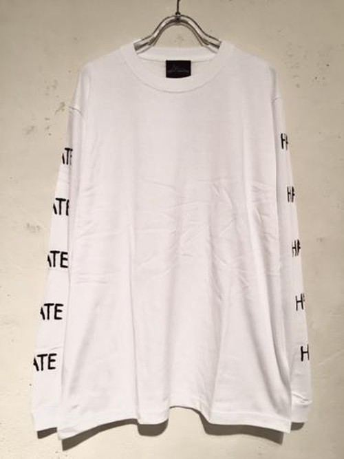 "LONG SLEEVE Tee ""HATE"" (WHITE)"
