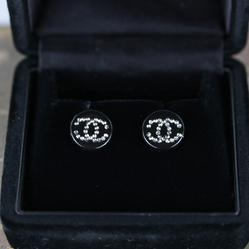 .CHANEL 03A COCO MARC CLEAR STONE EARRING MADE IN FRANCE/シャネルココマーククリアストーンピアス 2000000041476