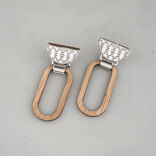 pierced earrings C-P35/earrings C-E35<silver>