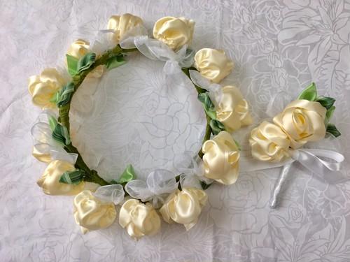 ハワイアンリボンレイ(レシピなし)【花かんむり&ブートニア】キット