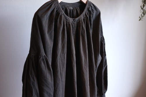 SPECIAL PRICE!!『LENO』Gathered Dress / Charcoal