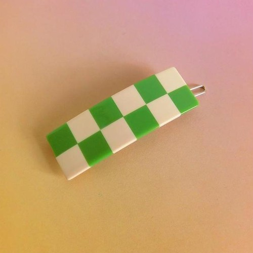 """Chunks """"Cecile Clips"""" Green/Ivory"""