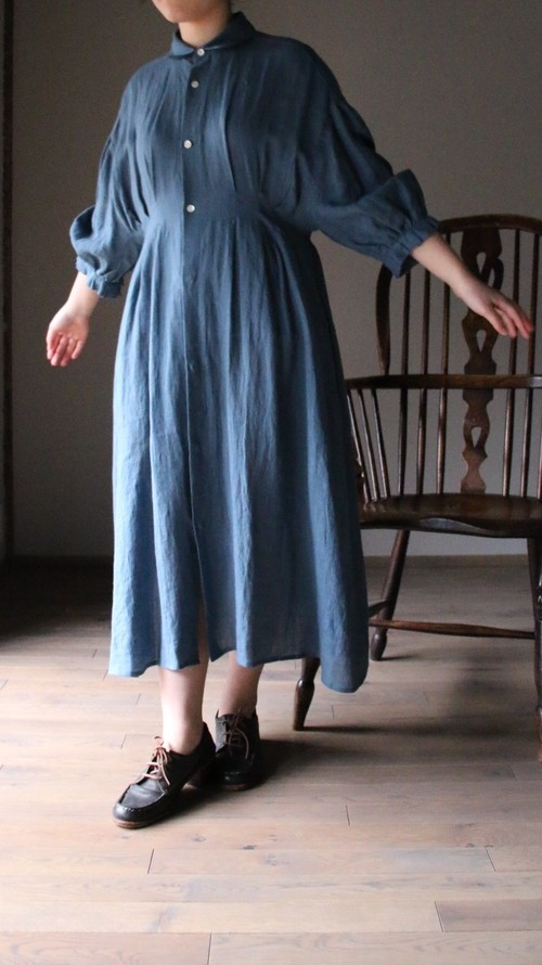 ASEEDONCLOUD/アシードンクラウド peasant dress /ペザントドレス #201304 Blue