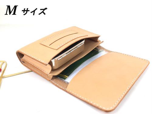 ★オーダー★ 手巻タバコ用ロールアップポーチ・ダブルMサイズ  革厚:ミディアム