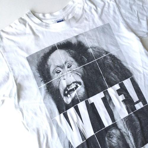 GILDAN : 「WTF!」 print Tee (used)