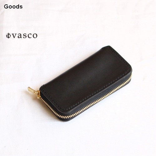 vasco  オイルドレザーキーケース LEATHER VOYAGE ROUND ZIP KEY CASE VSC-671Z (ブラック)