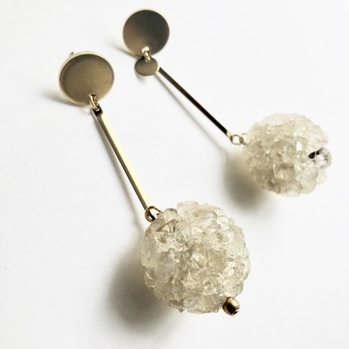 Crush bead earrings No.313