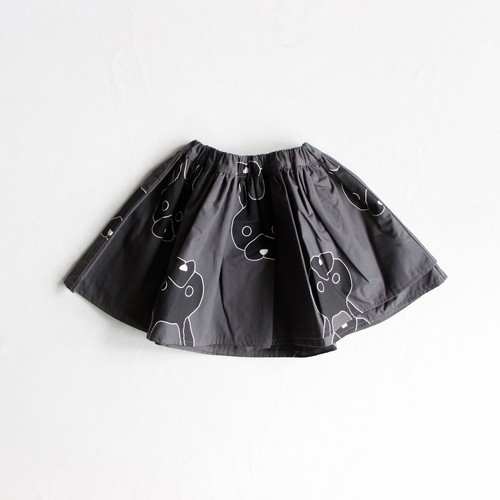 《frankygrow 2019AW》TOTAL HANDLE AIRY SKIRT / deep black × black rabbit / S・M・L