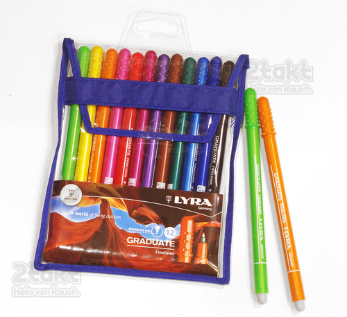 LYRA リラ / GRADUATE Fineliner 中字サインペン 12色セット
