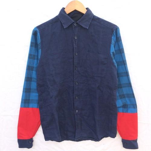 袖チェックシャツ1