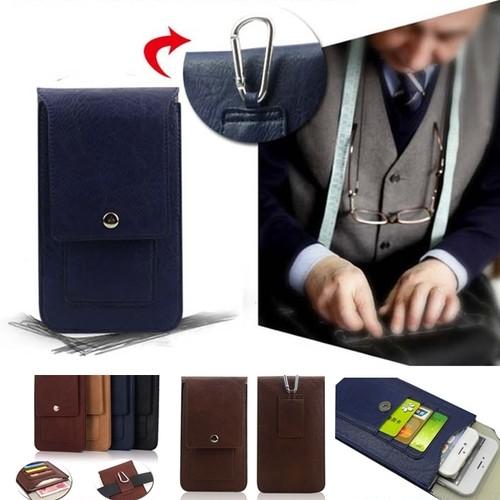 【薄型 ベルトポーチ スマホ iphone 小物収納】仕事 合皮 レザー 革 革製/薄くて便利 カード 仕事 ビジネス たち仕事