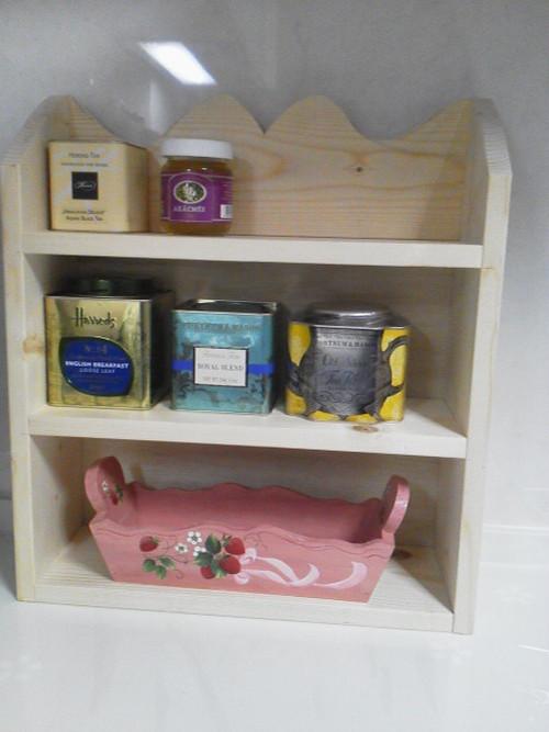 紅茶缶が綺麗に収まるラック  木工指導
