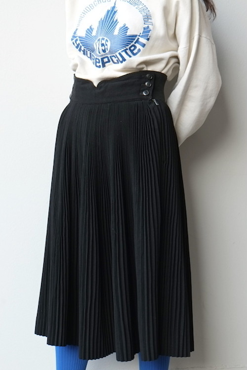 vintage/fujichaku pleats skirt.