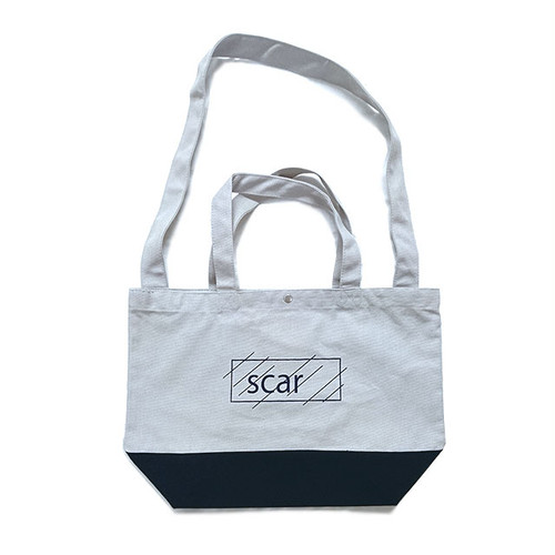 scar /////// OG 2WAY TOTE BAG (Grey/Navy)