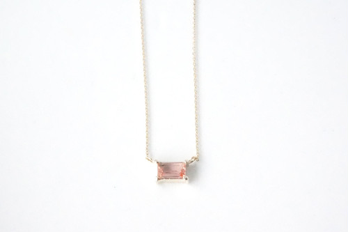 square necklace -imperial topaz-