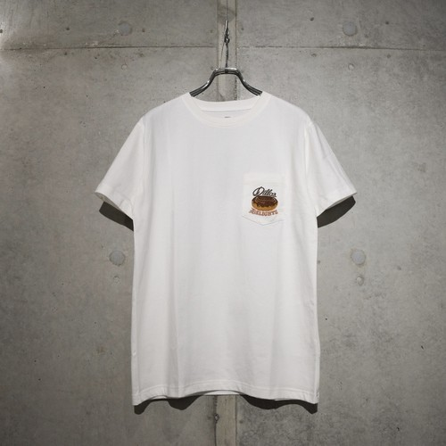 EXPANSION  003T DD EMBROIDERY T-SHIRT / WHITE