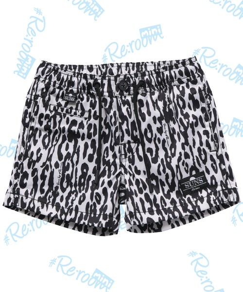 SUNS ANIMAL PATTERN STRETCH BOARD SHORTS for KIDS[RSW057]