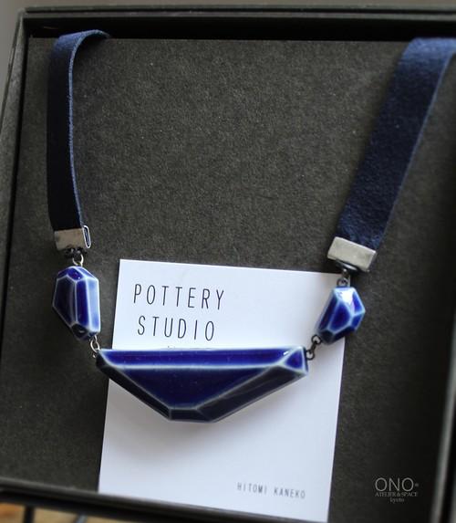 POTTERY STUDIO K  kakeraネックレス(ブルー)