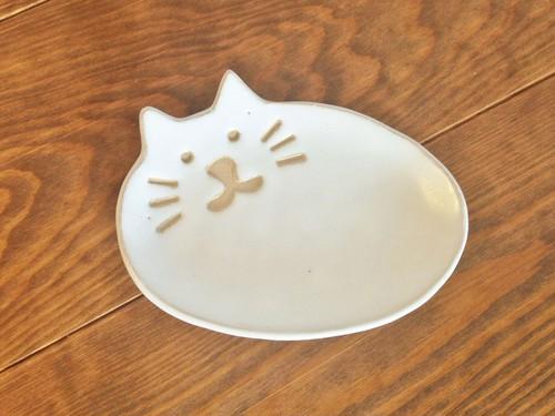 ネコの小皿 しろ