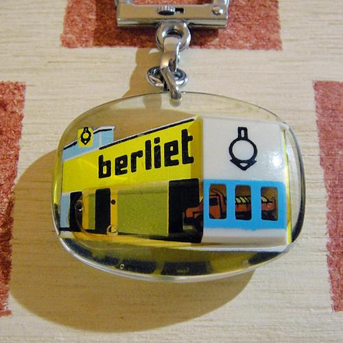 フランス berliet[ベルリエ]トラックメーカー広告ノベルティ ブルボンキーホルダー/モバイルタイプ