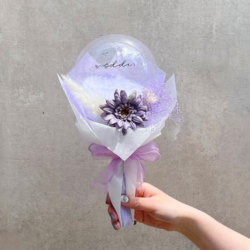 BALLOON FLOWER BOUQUET MINI - stella purple -