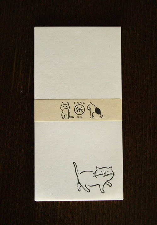 土佐和紙 ねこ一筆箋[大]NI015