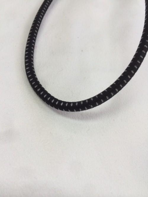 バンジーコード 5㎜径 反射入り 黒 1m