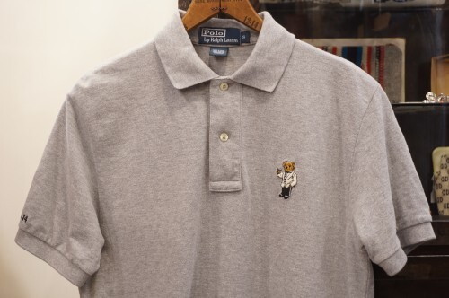 "Ralph Lauren  moss stitch polo Shirt ""POLO BEAR"""
