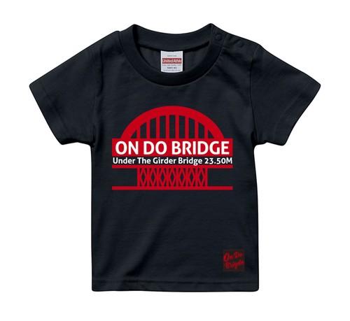 ON DO BRIDGE 鉄板 KIDS T-SHIRTS 子供ネイビー