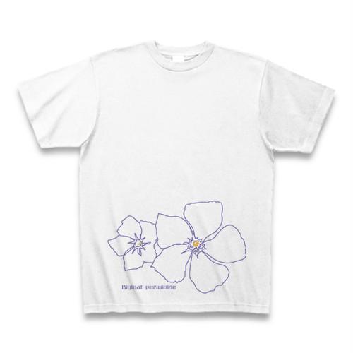 ツルニチニチソウ フラワーイラストTシャツ