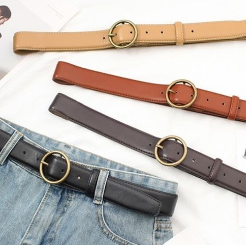 【お取り寄せ商品】casual round buckle belt 6793