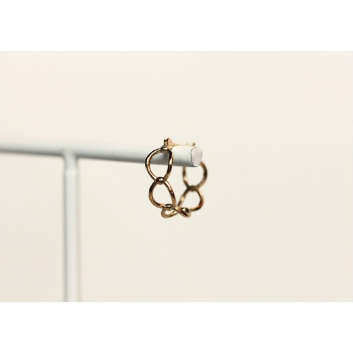 K10YG「poppy bloom hoop pierce」