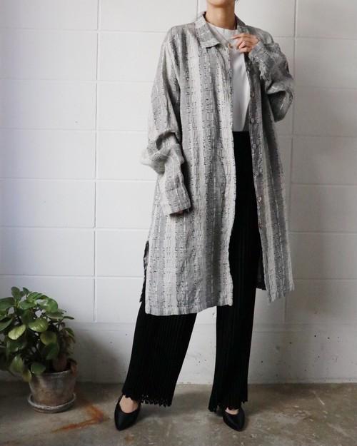 gray linen shirts coat