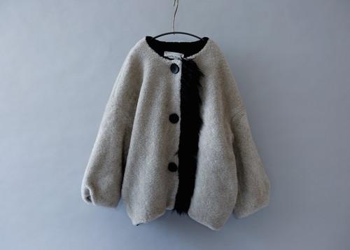 《michirico 2019AW》Boa coat / gray