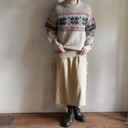 Snow flake Wool Sweater / 雪柄 ウール セーター