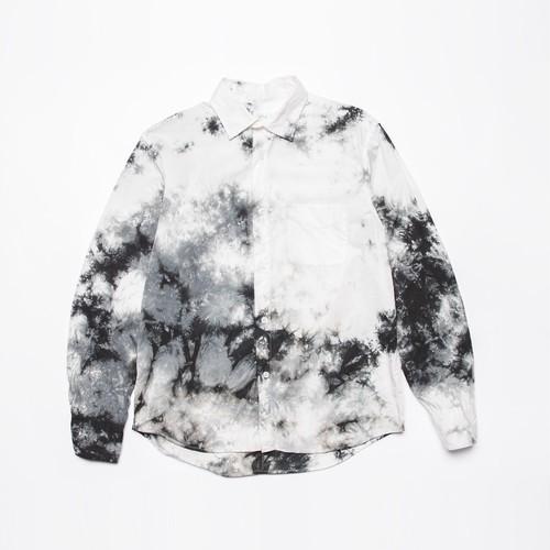 <OSOCU> Gaberdine shirts black dye 播州織ギャバジン×名古屋黒紋付染 日本の黒染めシャツ 黒むら染め