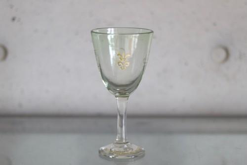 オリジナル琉球ガラス:ワイングラス エンブレム⑩