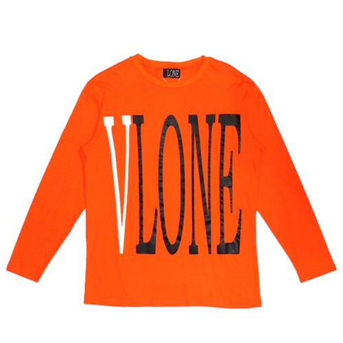 VLONE Logo L/S T-Shirts ORANGE
