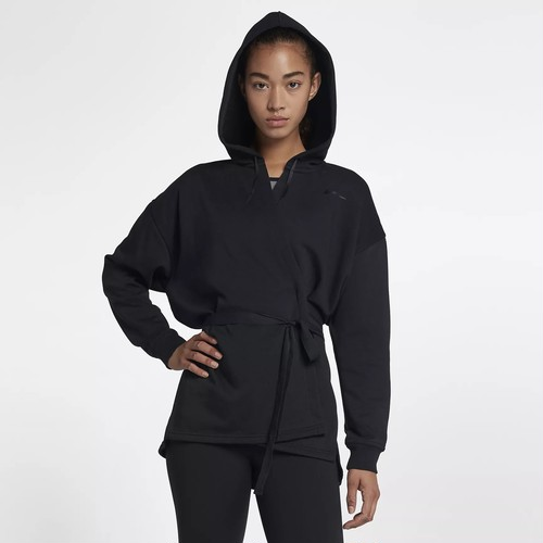 (ナイキ) NIKE 889205-010 WMNS DRI-FIT VERSA FULL ZIP HOODY フルジップ フーディ BLACK×GUN SMOKE×BLACK