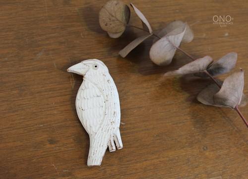 器のしごと 鳥のブローチ(E)