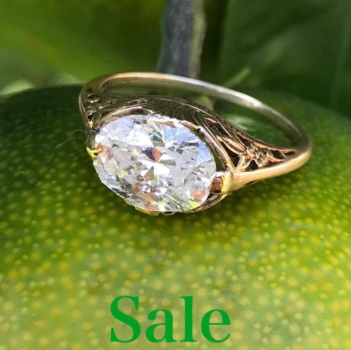 Antique Oval Diamond Ring