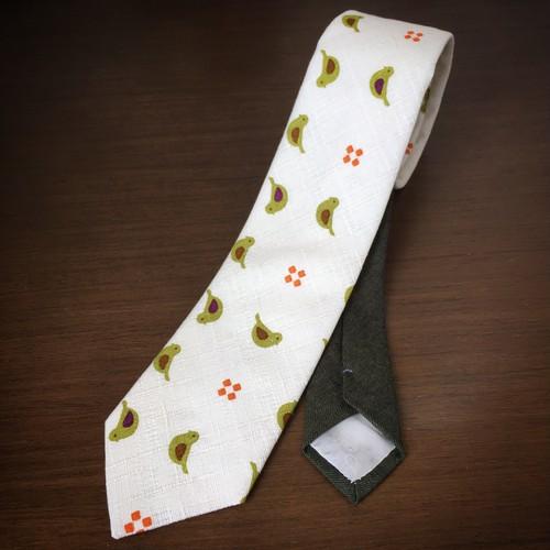うぐいす柄ネクタイ