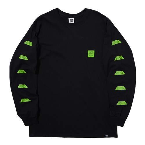 TRAPEZIUM L/S TEE(BLACK)[TH8A-007]