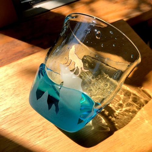 トオボエロック(ロックグラス)水色