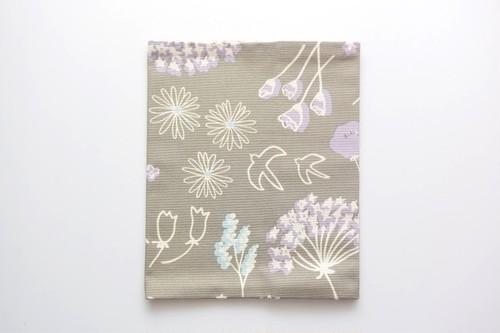 あな吉手帳カバー・鳥と花