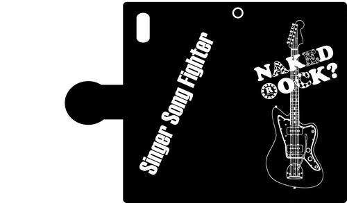 【訳あり品】「NAKED ROCK?」×「Singer Song Fighter」手帳型iPhoneケース