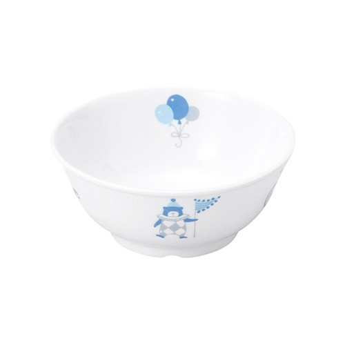 【1087-1300】強化磁器 11cm こども茶碗 シルク