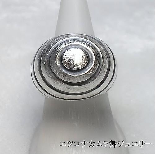 ドーム溝だけいぶし銀シルバーユニセックスリングFR68a