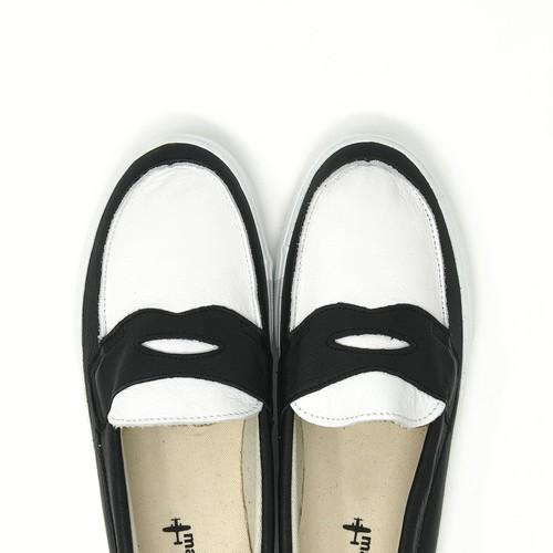 ローファー loafers<WHITE/BLACK>の商品画像6
