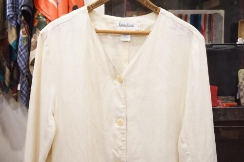 90's Neiman Marcus linen slit Jacket